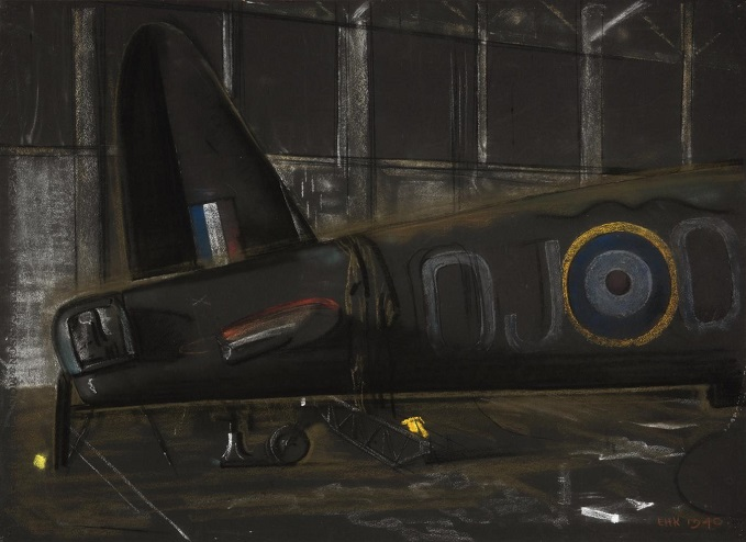 Eric Kennington, Rear of a Gun Turret and tail of a Wellington Bomber c.1940