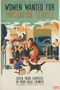 Women wanted for Evacuation Service - Poster