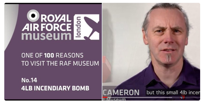 Watch on our YouTube Channel the story of the Incendiary Bomb