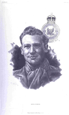 FA 02372 Janice Keck, Portrait of Wing Commander Page, litho print