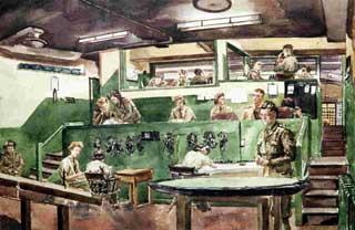 Anti-Aircraft Control Room (probably Biggin Hill, 1944)