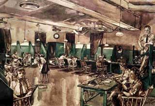RAF Communications Room (probably Biggin Hill, 1944)