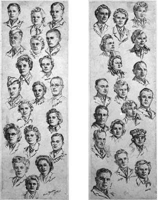 WAAF and RAF portrait heads