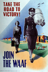 Recruiting poster for WAAF