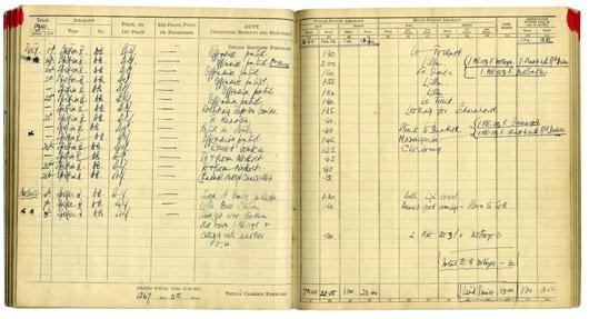 Douglas Bader's Log Book - Final Flight
