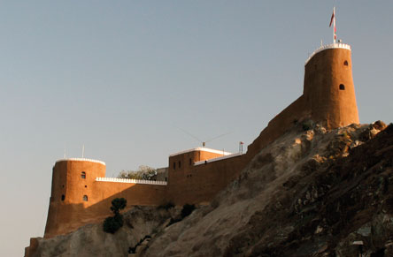 Fort Al Mirani, built in the 16th Century by the Portuguese to guard the seaward entry to Muscat