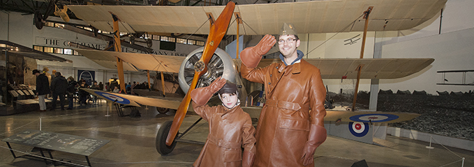 The visitors of the RAF Museum London on the Foundation Day