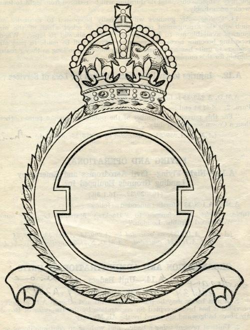 Standard frame for RAF badges.
