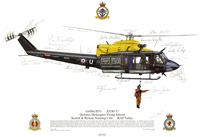 Signed commemorative print from the Search and Rescue Training Unit, RAF Valley, 1999