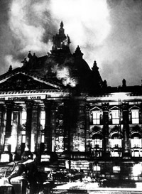 Reichstag fire provided the excuse Hitler needed to declare Germany a one party Nazi state