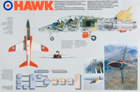 Promotional poster for the BAe Hawk aircraft, 1984
