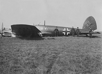 One success by the Czechoslovak pilots was shooting down an He–111 bomber. This was most likely shot down on 14th June 1940 at Champlitte. The following pilots participated in the combat: Jan KLÁN, Ladislav SVETLÍK and Josef DUDA. Archive of Ondrej Krejcar.