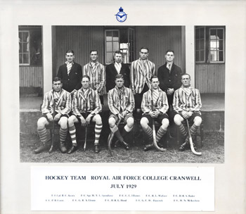 Hockey Team at Royal Air Force College Cranwell, 1929
