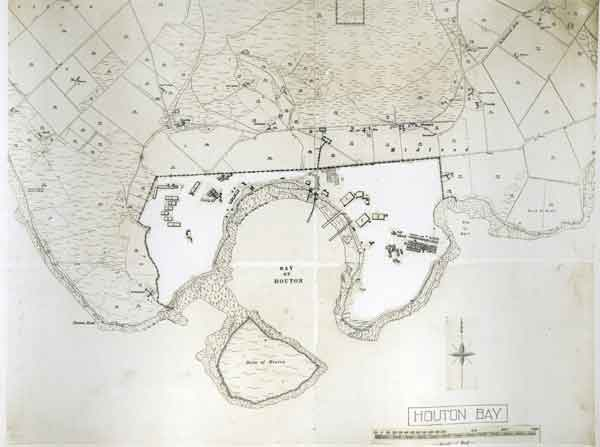 Site plan of Houton Bay from Quarterly survey of RAF stations: Volume 5 - Marine operations stations; November 1918 (X002-7200)