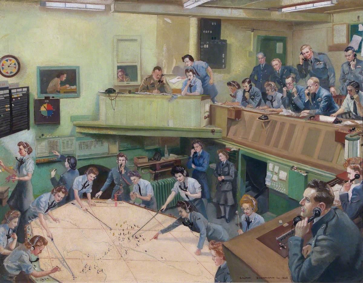 Lilian Buchanan Ops Room, Kenley, 1944.
