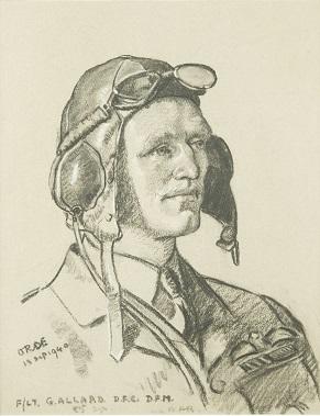 Cuthbert Orde Flight Lieutenant Geoffrey Allard, DFC, DFM, 1940.