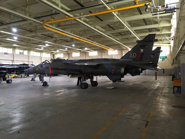The RAF Museum's XX824 at RAF Cosford shortly before moving to RAF Museum, London for display