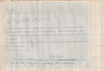 """Záznam v deníku 311. squadrony. Telegram Mezinárodního cerveného kríže citující oficiální nemeckou informaci, že letadlo s Sgt Karlem Klimtem, Sgt Ottou Jirsákem, P/O Hubertem Jaroškem, P/O Bohumilem Landou bylo sestreleno 16. ríjna 1940 v okrese Bsterwyk. Zmínení jsou pohrbeni v Bstwerwyku. Žádné další zprávy o seržantech Novotném a Šestákovi. …"""" Ve skutecnosti byl wellington KX-T sestrelen nad Zuider See. Vyskocit se podarilo pouze Emanuelu Novotnému a Augustinu Šestákovi, kterí skoncili v zajetí. Ostatní byli pohrbeni na hlavním hrbitove v Oosterwolde, Oldebroek. Archiv Petry Tonder."""