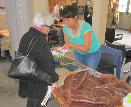 A Museum Volunteer engaging with the local community