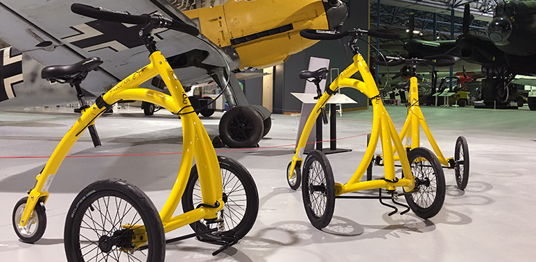 Alinker bikes which can be borrowed to help you get around the Museum more easily