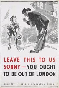 Evacuation poster - Battle of Britain