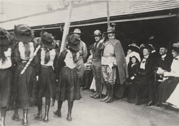 'Girl Scouts' at the 1909 Crystal Palace Scout Rally. © The Scout Association Heritage Collection