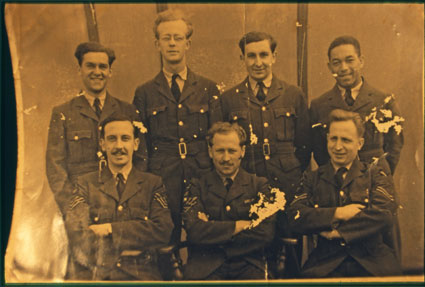 Leading Aircraftman Philip Lamb pictured with his colleagues