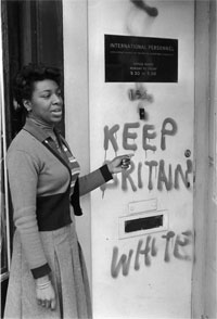 Racist graffito, 1960s (Courtesy of Black Cultural Archives)