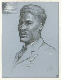 A Bahamian Flight Engineer, Sergeant Basil Johnson, Honour Earl, 1944 (FA00942)