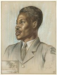 An Airman from Nigeria,  Aircraftman Second Class A. Dewale, Honour Earl, 1944 (FA00936)