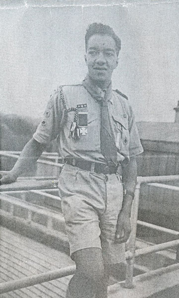 Jack Olden wearing his Scout Silver Cross. © The Scout Association Heritage Collection