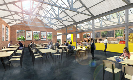 An artist's impression of how Building 69 might look as a restaurant