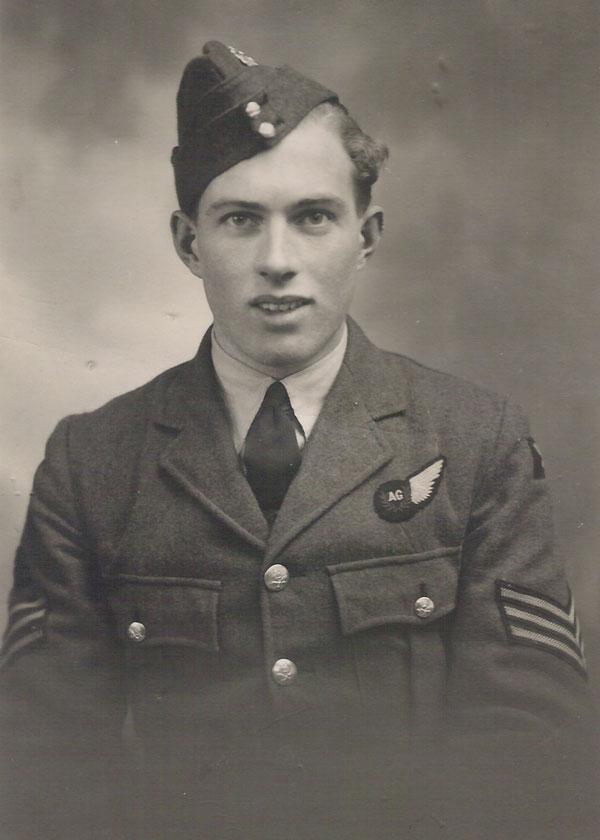 Bust-length portrait of Sgt Jack Watchous