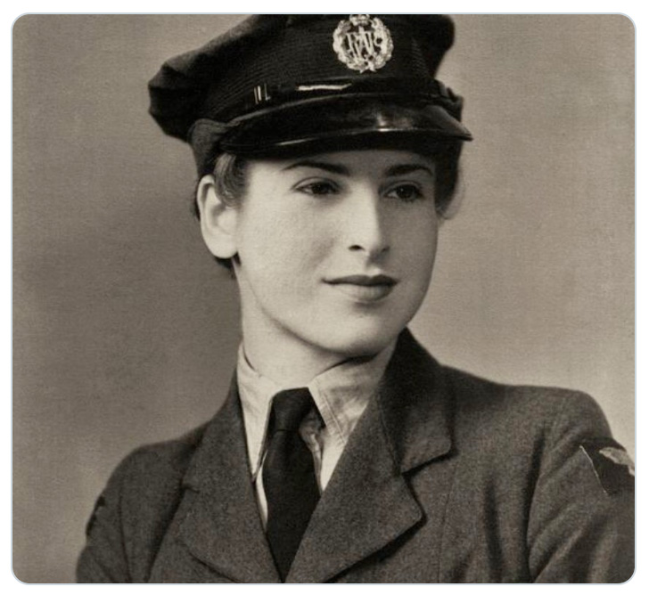 WAAF Joan Myers, who worked at a plotting table during the Battle of Britain