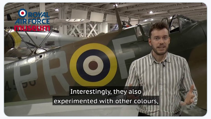 Image of Kris Hendrix in front of an Me109