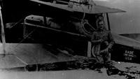 William Lambert with his S.E.5a, C1084 'Babe Cincinnati USA', 1918