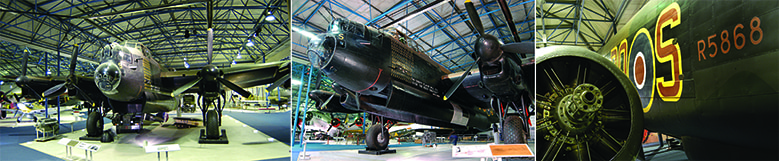 Avro Lancaster, S for Sugar, in the Bomber Hall at the RAF Museum London