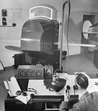 The famous Link Trainer in action during the Second World War