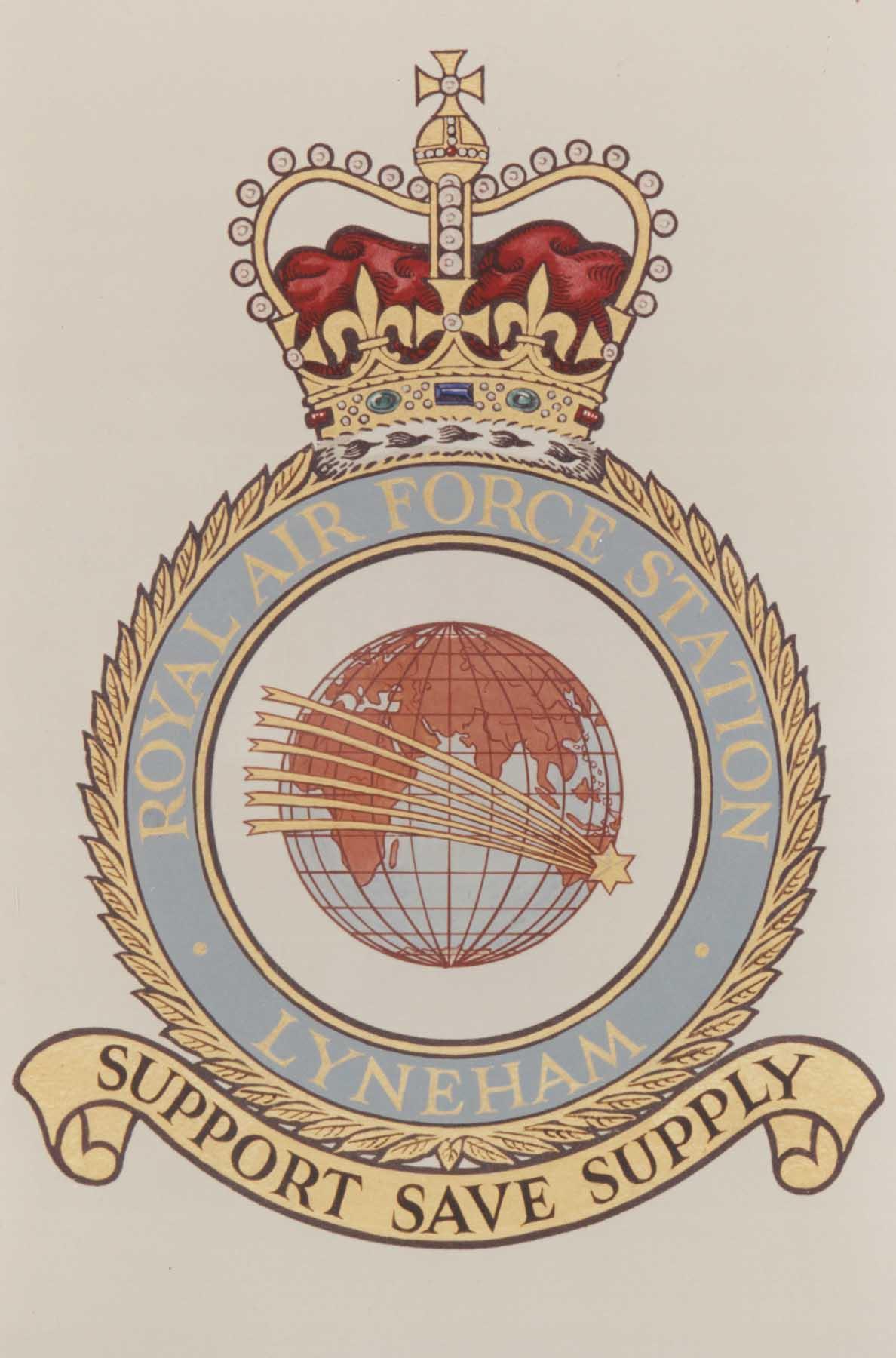 RAF Lyneham official station badge.