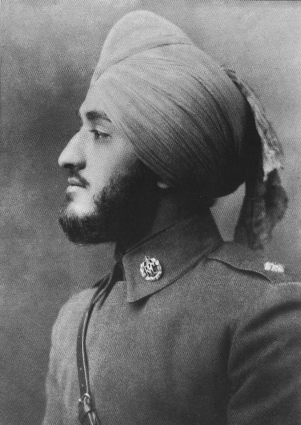 Second Lieutenant Hardit Singh Malik, circa 1917
