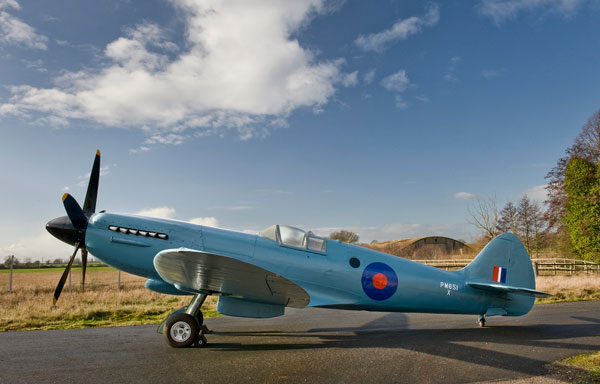 The elegant Spitfire Mk XIX at Cosford. This version was used for photo-reconnaissance