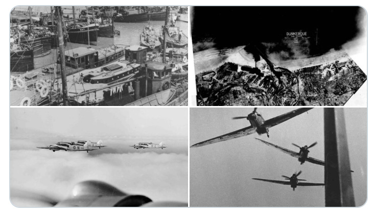 Pictures showing the commencement of Operation Dynamo
