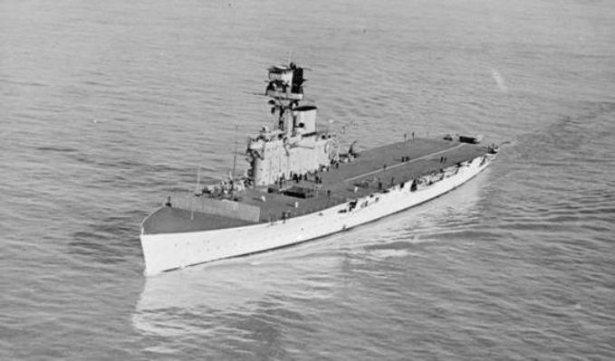 P003272: HMS Hermes during the inter-war years.