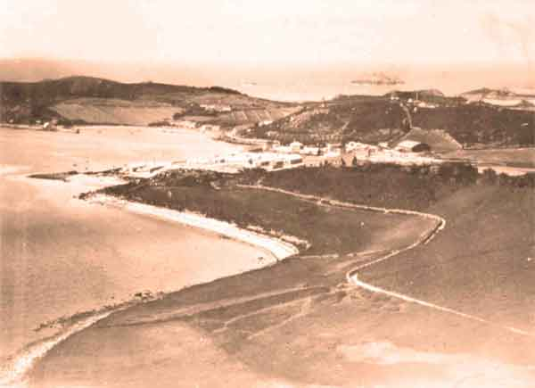 The flying boat base on Treco, c. 1918 (RAFM photograph P003586)
