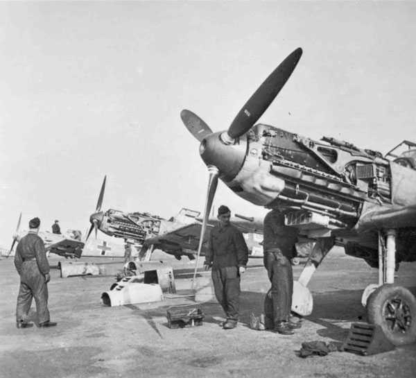 Messerschmitt Bf 109E's similar to those that attacked Ansons of 500 Squadron on 1 June 1940 (P007677)