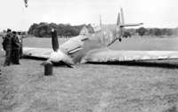Crashed aircraft - Battle of Britain