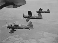 The Air Component had five squadrons of Lysanders and four of Blenheims for reconnaissance. It also had four squadrons of Hurricanes and one of Gladiators to protect them from enemy fighters and to stop the German bombers attacking the army.