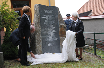 The unveiling of the memorial to the victims of the Holocaust and RAF members from Trhová Kamenice, which was organized by our military history club.