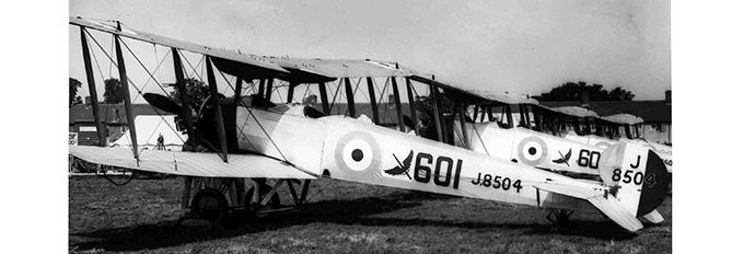 Avro 504N of 601 Squadron, RAF Hendon, 1929
