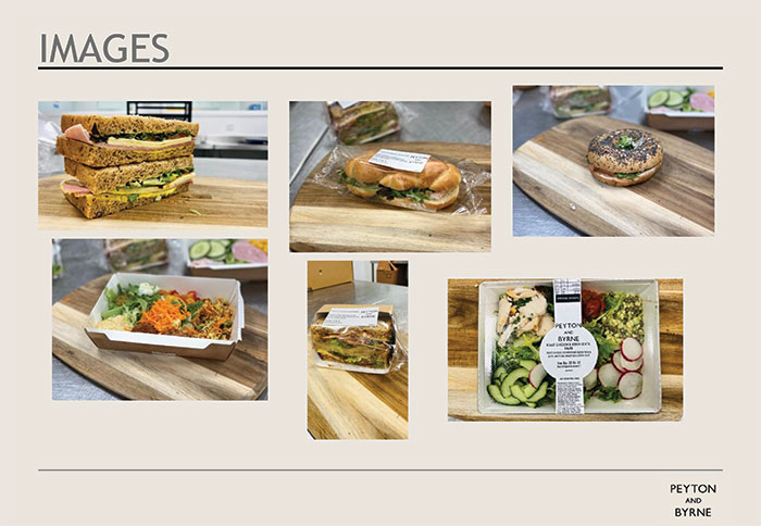 An example of some of the new foods that we have on offer